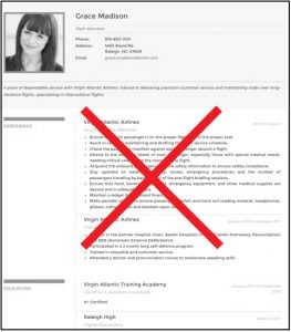 resume photograph