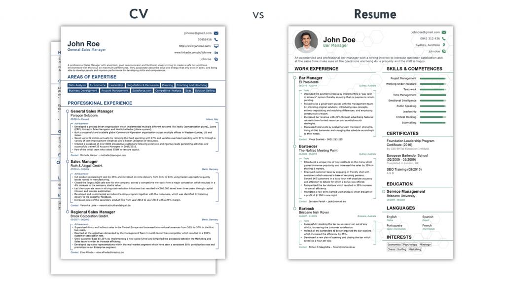 cv-vs-resume
